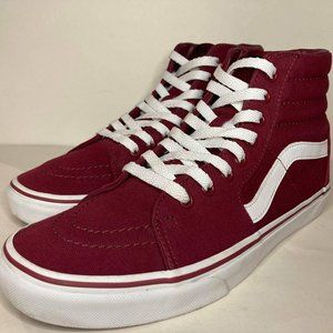 VANS Maroon High Top Skate Shoes Sneakers Men's 10